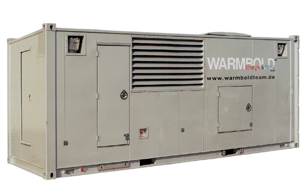 TWIN Aggregat 2x500 kVA im 20 Fuss Container